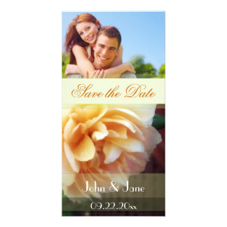 "Yellow Rose/photo  ""Save the Date"" Customized Photo Card"