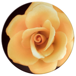 Yellow Rose Porcelain Plate