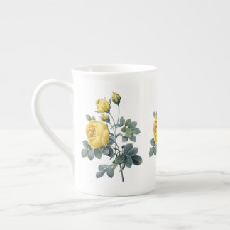 Yellow Rose Redoute Bone China Mug
