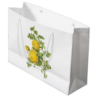 yellow rose(Rosa sulfurea) by Redouté Large Gift Bag