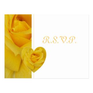 Yellow Rose RSVP Postcard