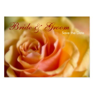 Yellow Rose • Save the Date Mini Card Business Card