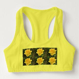 Yellow Rose Sports Bra