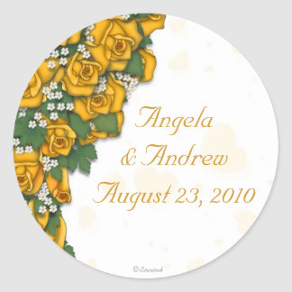 Yellow Rose Stickers