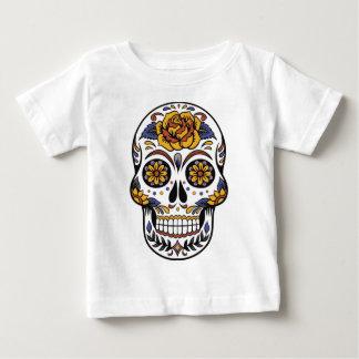 Yellow Rose Sugar Skull Baby T-Shirt