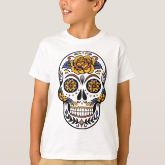 Yellow Rose Sugar Skull T-Shirt