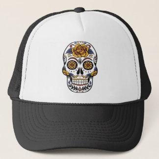 Yellow Rose Sugar Skull Trucker Hat