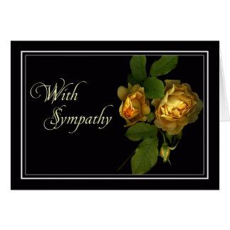 Yellow Rose Sympathy/Condolence Card