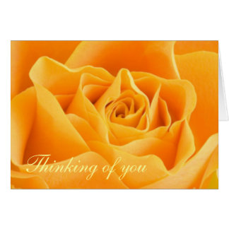 Yellow Rose thinking of you Greeting Card