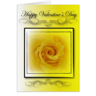 Yellow Rose Valentine Card