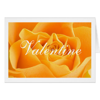 Yellow Rose Valentine Greeting Card