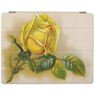 Yellow Rose Vintage Victorian Flower iPad Cover