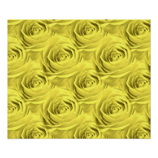 Yellow Rose Wallpaper Pattern Poster