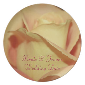 Yellow Rose Wedding Plate Template