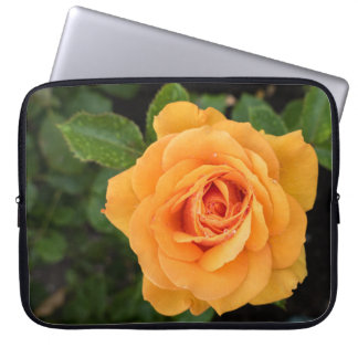 Yellow Rose with Raindrops Laptop Sleeve