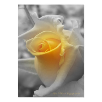 Yellow Rosebud Grayscaled Business Card
