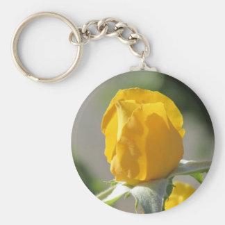Yellow Rosebud Keychain