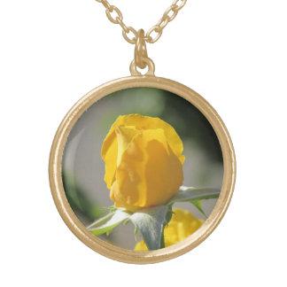 Yellow Rosebud Pendant