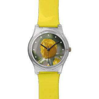 Yellow Rosebud Wrist Watch