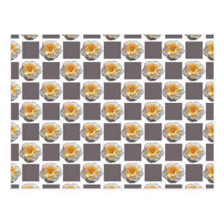 Yellow Roses and Gray Squares Postcard