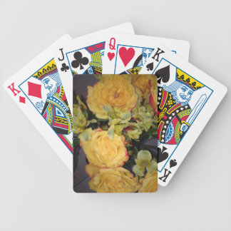 YELLOW ROSES BICYCLE PLAYING CARDS
