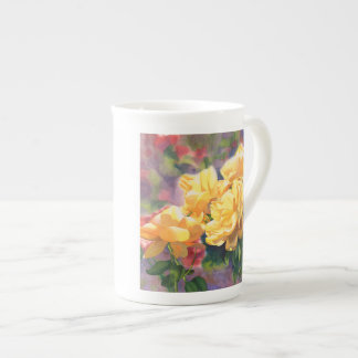 Yellow Roses bone china Tea Cup