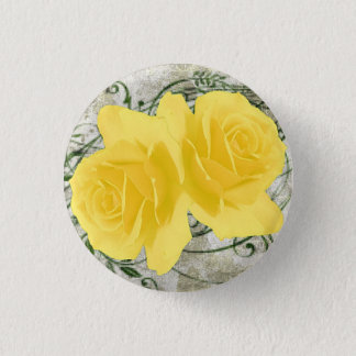 Yellow Roses Button