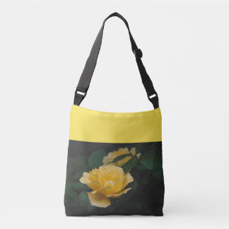 Yellow roses crossbody bag