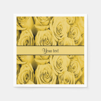 Yellow Roses Disposable Napkins