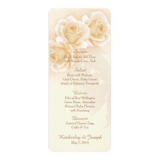 Yellow Roses & Eucalyptus Wedding Menu Card