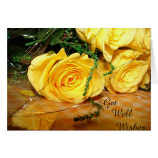 Yellow Roses Get Well Card