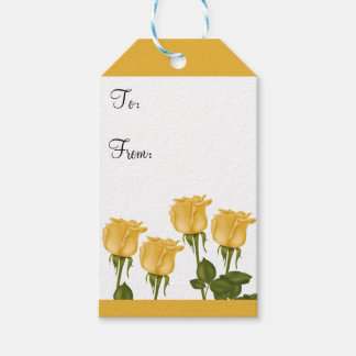 Yellow Roses Gift Tags
