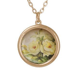 Yellow Roses Gold Plated Necklace
