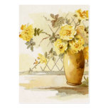 Yellow Roses in a Pottery Vase Business Card