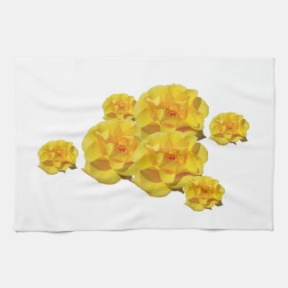 Yellow Roses in bloom Kitchen Towel