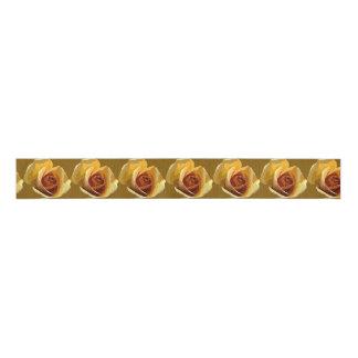 Yellow Roses in Row Ribbon Grosgrain Ribbon