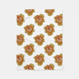 yellow roses in the garden fleece blanket