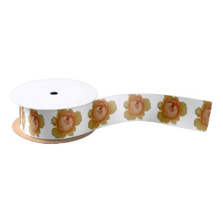 yellow roses in the garden satin ribbon