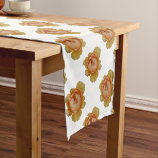 yellow roses in the garden short table runner