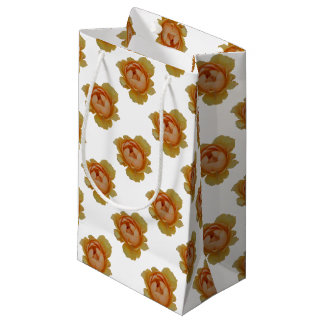yellow roses in the garden small gift bag