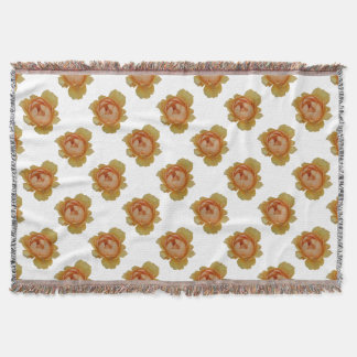 yellow roses in the garden throw blanket