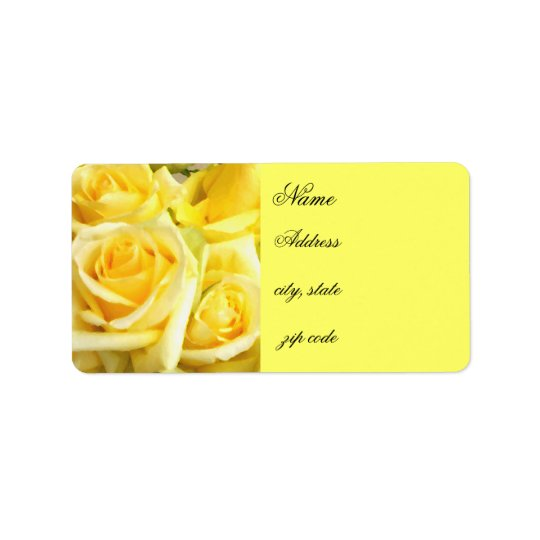Yellow Roses_ Label