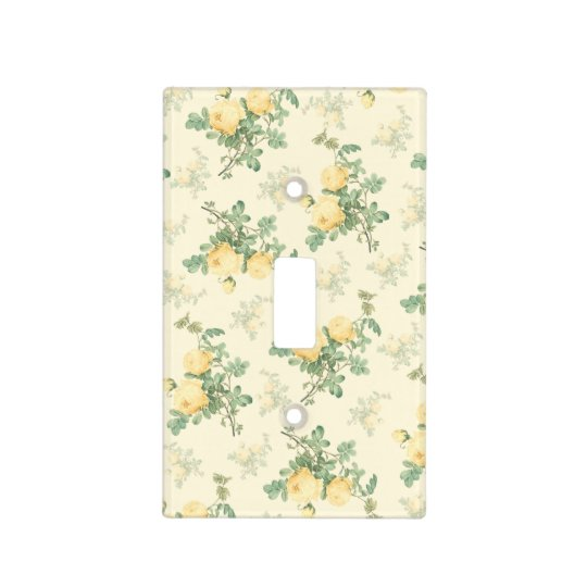 Yellow roses light switch cover floral home gift