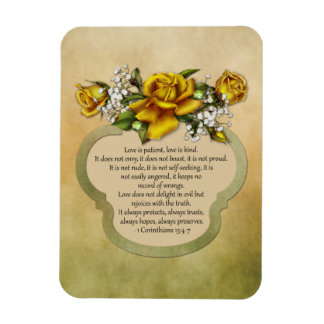 Yellow Roses Love is Patient, Love is Kind Magnet