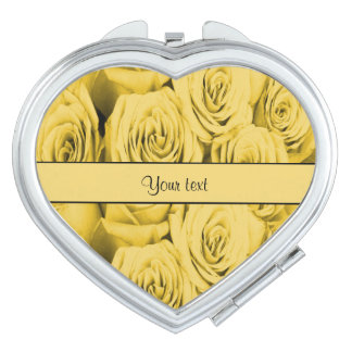 Yellow Roses Mirror For Makeup