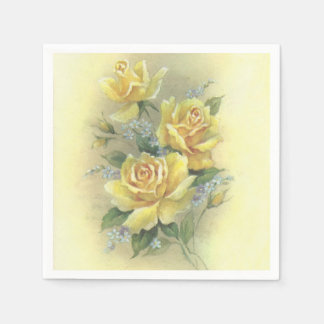 Yellow Roses Paper Napkin