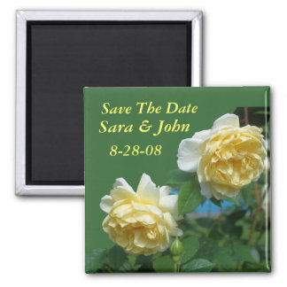 Yellow Roses Save The Date Wedding Favor Magnet