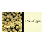 Yellow Roses Thank You Photo Card Template
