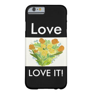 yellow roses that smile barely there iPhone 6 case