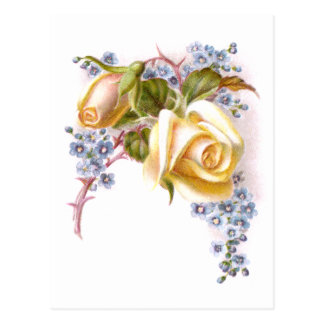 Yellow Roses Victorian Trade Card